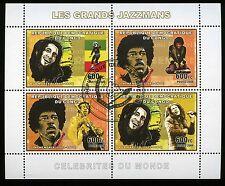 Jimi Hendrix and Bob Marley 2006 Congo Stamp Block - Perforated Mint