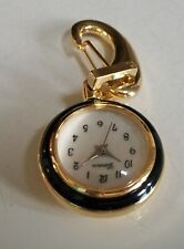 Women's/Boy's Gold/Black Finish fashion Dressy/Casual Clip On Pocket Watch