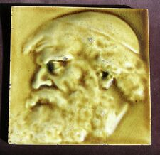 "American Antique portrait tile by J & J G LOW - ""SHYLOCK"" c1890"
