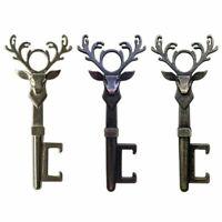 Vintage Deer Head Shape Beer Wine Bottle Opener Keychain Metal Kitchen Bar Tools