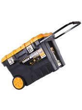 """Tough Master Tool Chest Box Mobile 28"""" on Wheels With Tote Tray"""