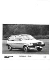AUSTIN ROVER METRO 1.3 HL  'Y' REGISTERED PRESS PHOTO 'BROCHURE' CONNECTED