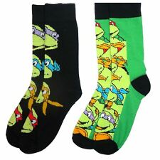 Official Teenage Mutant Ninja Turtles Assorted Adult Socks (2 Pairs) - One Size