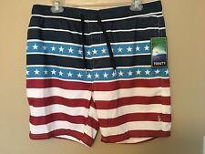 65c46e3b20 Trinity Stars and Stripes Hybrid Board Shorts Swim Trunks Size L Red White  Blue