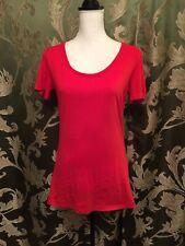 NEW Victoria Secret Size L/G Red Cotton Lingerie Women's Shirt