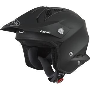 Airoh TRR S Open Face Trials Motocross ATV Enduro Off Road Helmet Matt Black