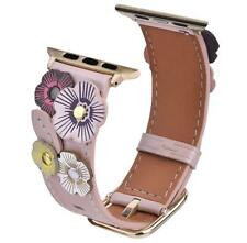 Apple Watch Series 4/3/2/1 Band 38/40mm Genuine Leather Bracelet Strap Tea Rose