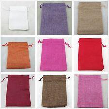 13x18cm Vintage  Linen  Burlap Jute Favour Candy Gift Bags Wedding Party Pouches