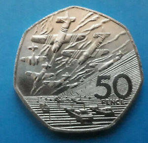 1994 D - DAY 50p coin in circulated condition (fifty pence) Normandy Landings