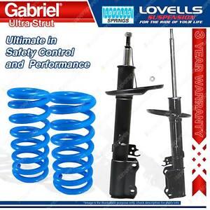 2 Rear Gabriel Ultra Strut Shocks + Lovells Springs For Toyota Avalon MCX10 I II