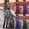 Hot Sale Summer Fashion New Print Color Striped Button Short Sleeve Long Dress