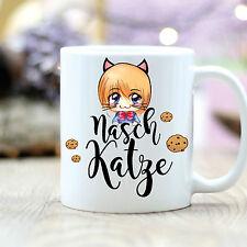 T112 Wandtattoo-Loft Coffee Mug Nibbles Snack Cat Manga Girls Biscuits Sweet