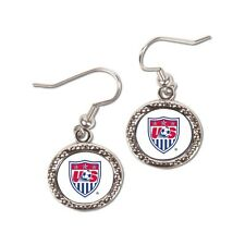 US Women's Soccer Team 2015 World Cup Champions Round Earrings