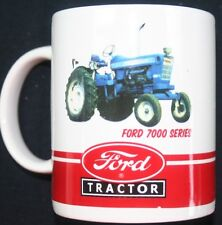 Ford tractor collector coffee cup mug New Holland 7000 gift travel ceramic drink