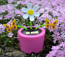 New Solar Power Flip Flap Dancing Toy Flower Cute Pink Daisies Flower