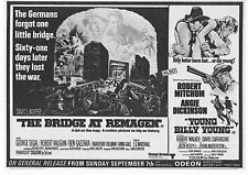 BRIDGE AT REMAGEN ROBERT VAUGHN YOUNG BILLY YOUNG UK DOUBLE FEATURE AD