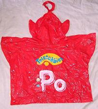 SUPER RARE 1999 RAGDOLL TELETUBBIES PO DOLL PVC PULLOVER RAIN JACKET