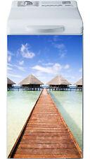 Sticker lave linge déco électroménager Les Maldives réf 17 40x80cm