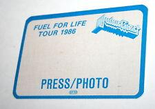 2 Judas Priest Fuel For Life Tour 1986 Rock Band Concert Press Pass Otto Mt Blue