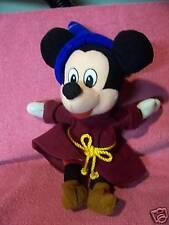 "DISNEY Mickey Mouse Fantasia Bean Bag Plush CUTE Wizard 10.5"" tall"