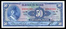 El Banco de Mexico 50 Pesos ENE.19.1953 Serie DL, P-49e. UNC