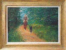 Otto Dill 1884-1957 Reiter auf Pferd Gemälde 1920er J 49 x 70 cm Ausstellungbild