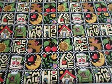 MARY ENGELBREIT  V.I.P. FAMILY HOME LOVE SCOTTIE BLACK FABRIC