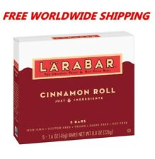 Larabar Cinnamon Roll Fruit & Nut Bars Gluten Free 5 CT 8 Oz FREE WORLD SHIPPING
