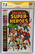 Marvel Super Heroes #21 CGC SS 7.5 SIGNED STAN LEE - Iron Man Avengers Thor Hulk