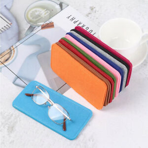 Portable Soft Felt Cloth Glasses Case Color Eyeglasses Pouch Reading Glasses Bag