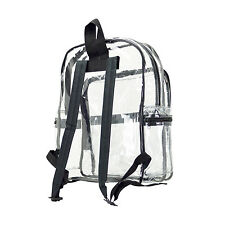 WOMEN LARGE CLEAR TRANSPARENT SCHOOL SECURITY BACKPACK SHOULDER TRAVEL BOOK BAG