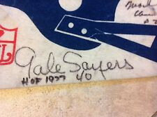 1970s CHICAGO BEARS GALE SAYERS AUTOGRAPHED PENNANT! RUSS FRANCIS,DOUG PLANK....