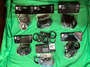 """Umbra Pewter 1"""" drapery Clips Seven Packages all New"""