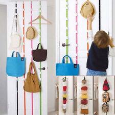 Over Door Adjustable Straps Hanger Hat Bag Clothes Coat Rack Organizer 8 Hook