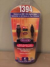 Belkin IEEE 1394 6 ft Digital Video Cable (i.LINK FireWire) 6 pin to 4 pin