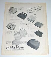 Vintage 1935 Marshall & Snelgrove Handbags Print Ad
