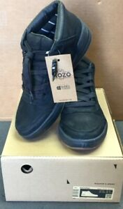 MOZO The Natural Canvas Men's High Top Shoe Sneaker Size 9.5 Black NEW