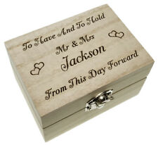 Engagement Holder Wedding Ring Box  Personalised Engraved Bearer Proposal Gift