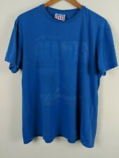 NY New York Giants NFL T Shirt Size L blue  junk food usa faded
