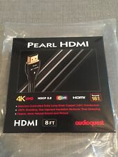 Lot Of 10 Authentic Audioquest Pearl Ultra 4K 8 Foot HDMI Cables NEW