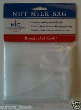 "Nut Milk Bag Reusable Polyester 11x9"" Strainer Almond Milk Soak Seeds WA57129"