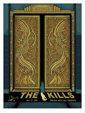THE KILLS CONCERT POSTER LIMITED EDITION SCREEN PRINT BY PAT HAMOU