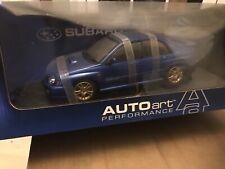 AUTOART Subaru Impreza Blue Wrx Sti New Age 1/18 scale Rare Model Collectors