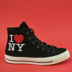 Converse Chuck 70 Hi I Love New York Embroidered Suede 161185C Black/Egret/Red