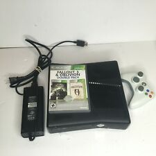 Microsoft Xbox 360 Matte Black Console With 1 Controller and 2 Games