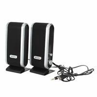 USB Stereo Speaker Soundbar for Notebook Laptop Mp3 Phone Music Player PC Q8G4