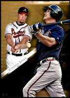 Chipper Jones 2019 Topps Gold Label Class One 5x7 Gold #73 /10 Braves