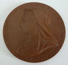 Queen Victoria 1897 Diamond Jubilee Bronze Medal - Signed TB Thomas Brock 55mm