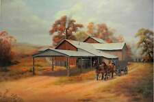 Davis Gin by Nelson Rhodes Cotton Gin Farm Barn Wagon Wall Decor Art Print