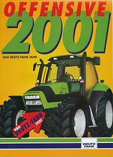Deutz-Fahr Offensive 2001 Traktor Prospekt Broschüre Landmaschinen Katalog